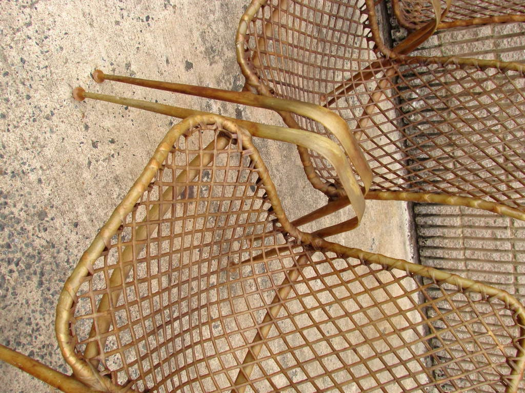 Set of Four Resin String Chairs For Sale 2