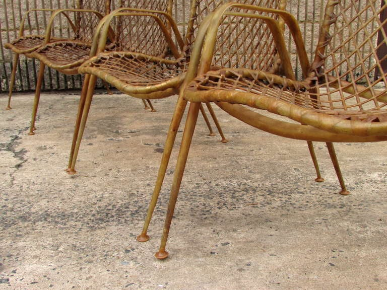 Set of Four Resin String Chairs For Sale 4