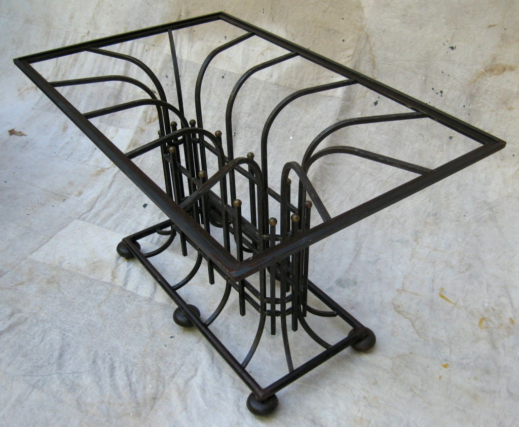 Craftsman Iron Center Table at 1stdibs : 870012850274093 from www.1stdibs.com size 1024 x 843 jpeg 140kB