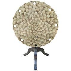 Eggshell Tilt-Top Table