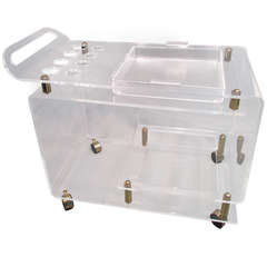 Lucite Bar Cart