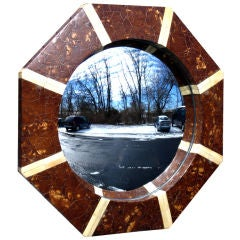 Coconut Shell and Bone Mirror
