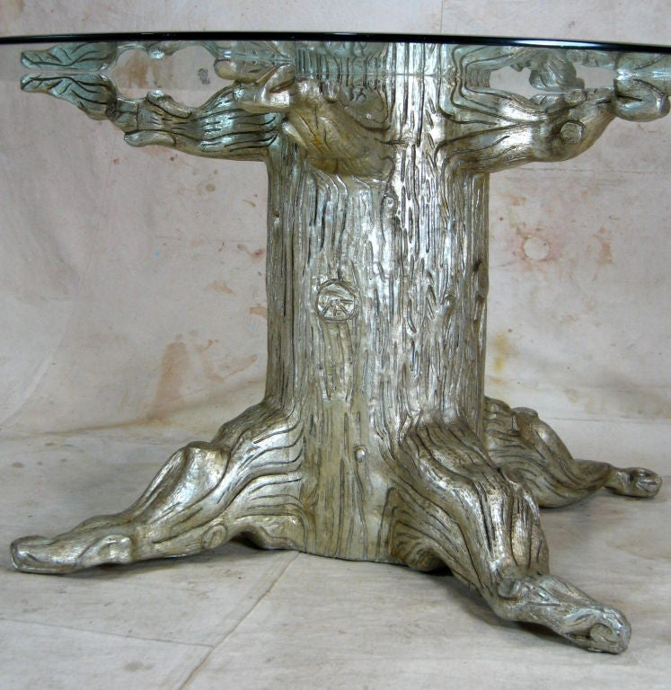 Tree trunk dining table by david barrett for sale at 1stdibs for Tree trunk dining room table