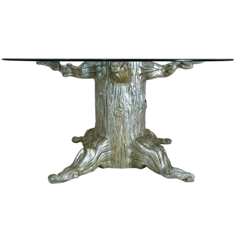 Tree Trunk Dining Table by David Barrett