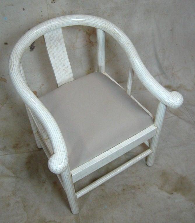 Tessellated Bone Horseshoe Chairs For Sale 1