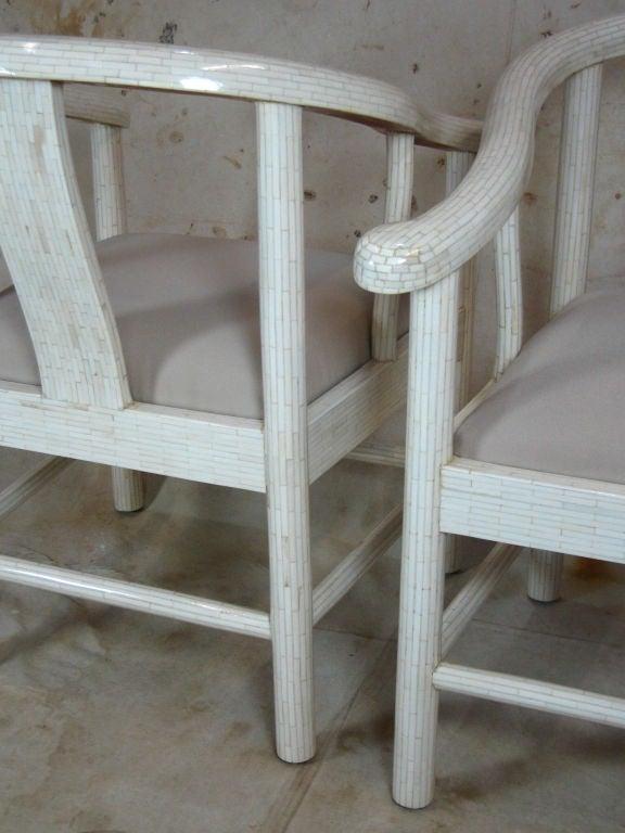 Tessellated Bone Horseshoe Chairs For Sale 2