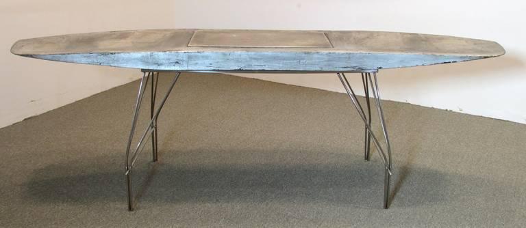 Metal Airplane Wing Desk By Jonathan Singleton For Sale