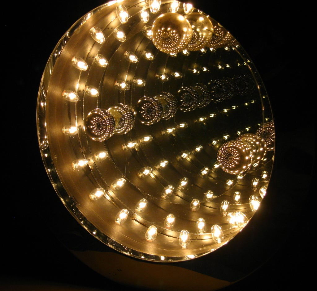 Disco Infinity Light And Mirror At 1stdibs