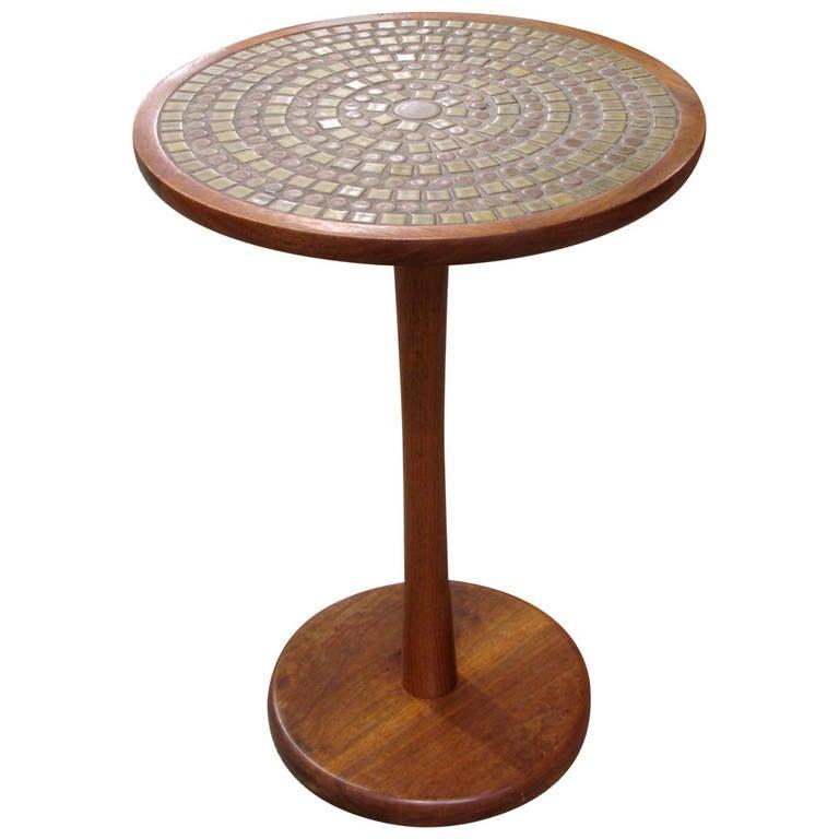 Martz tile pedestal table at 1stdibs - Ceramic pedestal table base ...