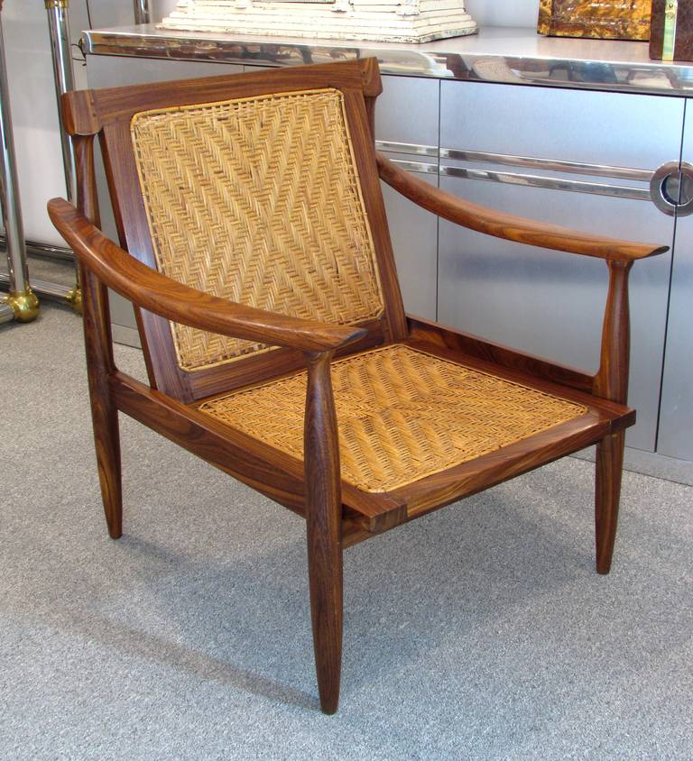 Brazilian Rosewood and Cane Armchair 2