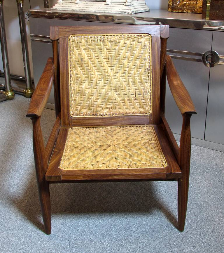 Brazilian Rosewood and Cane Armchair 3