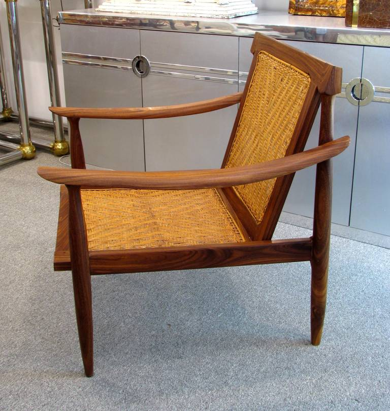 Brazilian Rosewood and Cane Armchair 4