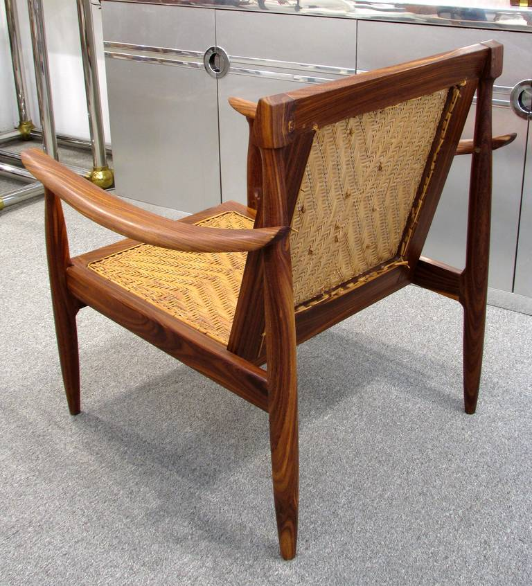 Brazilian Rosewood and Cane Armchair 5