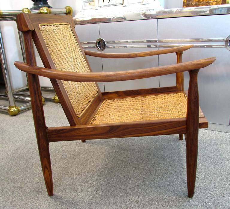 Brazilian Rosewood and Cane Armchair 6