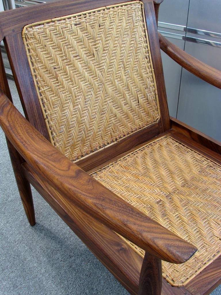 Brazilian Rosewood and Cane Armchair 7