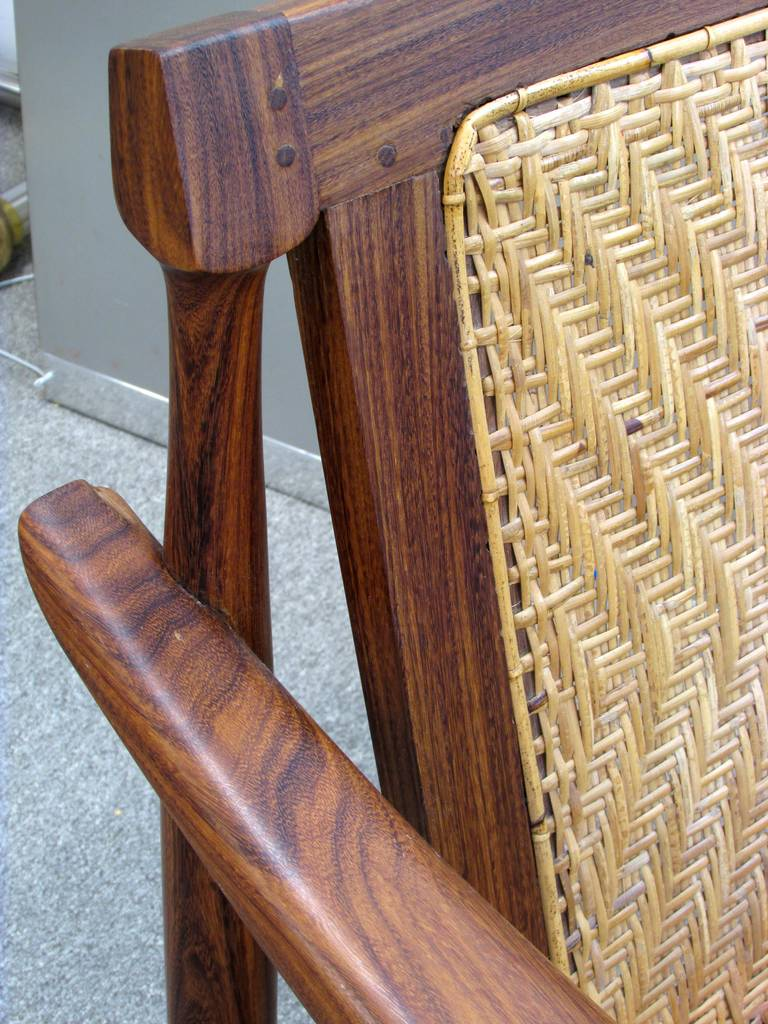 Brazilian Rosewood and Cane Armchair 8