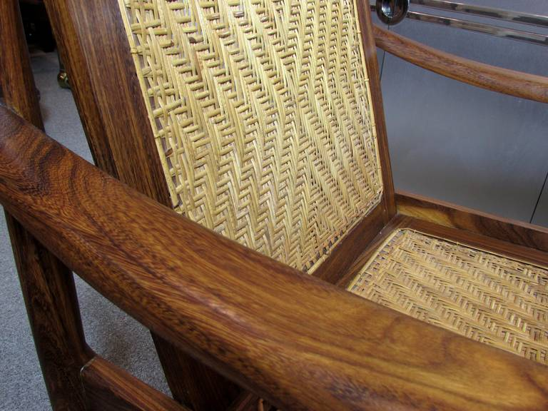 Brazilian Rosewood and Cane Armchair 9