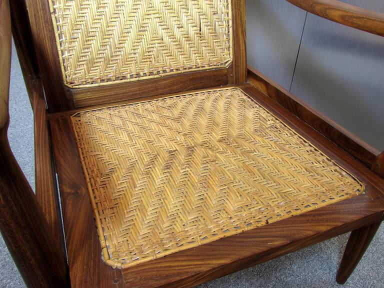 Brazilian Rosewood and Cane Armchair 10