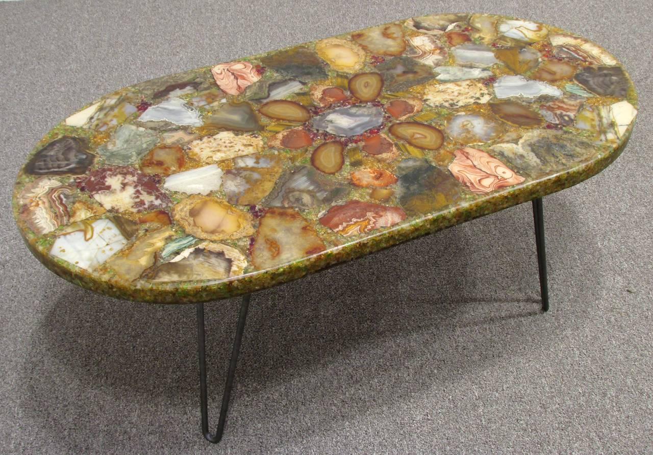 petrified wood specimen coffee table 2