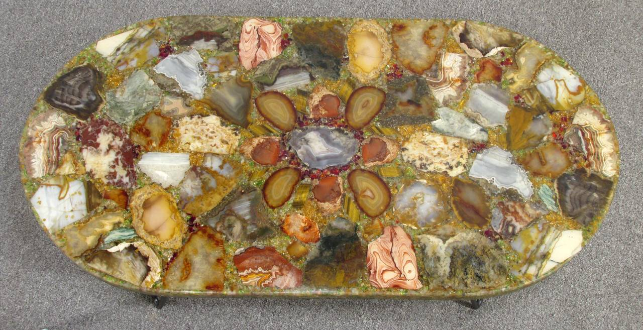 Mid-20th Century Petrified Wood Specimen Coffee Table For Sale