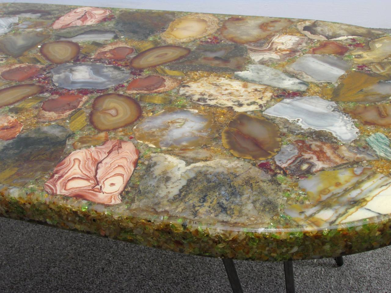 Petrified Wood Specimen Coffee Table For Sale 1