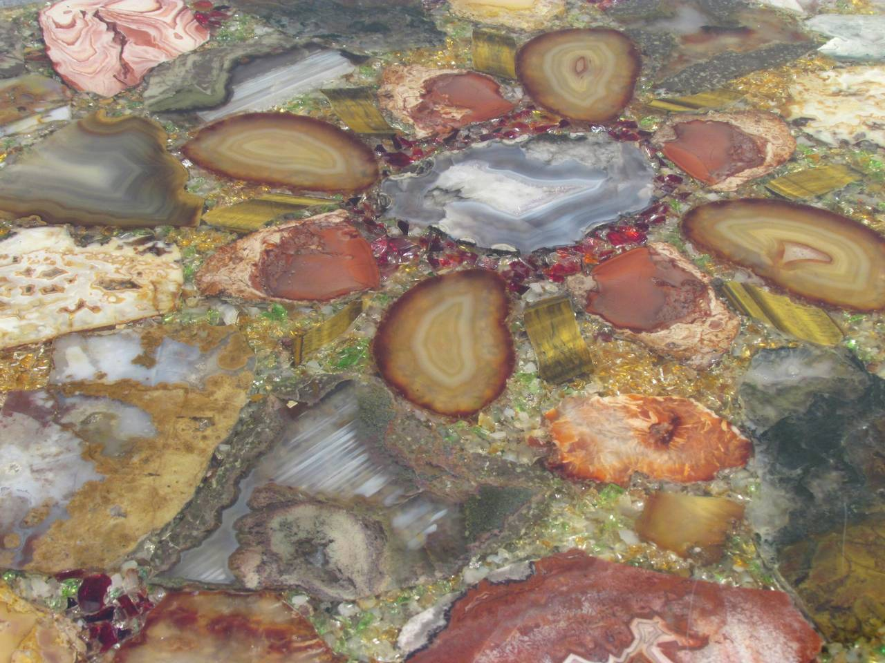 Petrified Wood Specimen Coffee Table For Sale 2