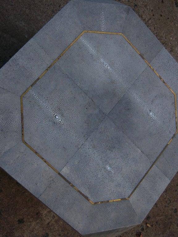 Pair Shagreen Polygon Tables At 1stdibs