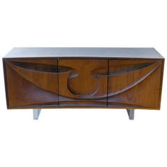 Rare Early Michael Coffey Seafarer Credenza or Wall Cabinet