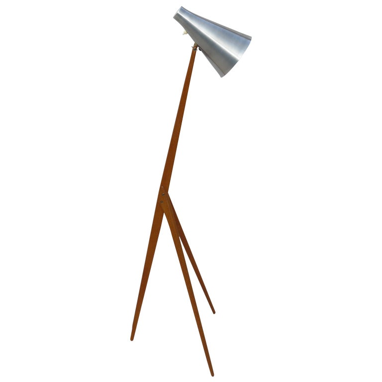 50s osten kristiansson for luxus floor lamp at 1stdibs. Black Bedroom Furniture Sets. Home Design Ideas