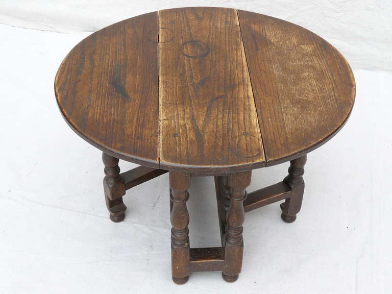 30 S English Children S Oak Drop Leaf Table Side Table At