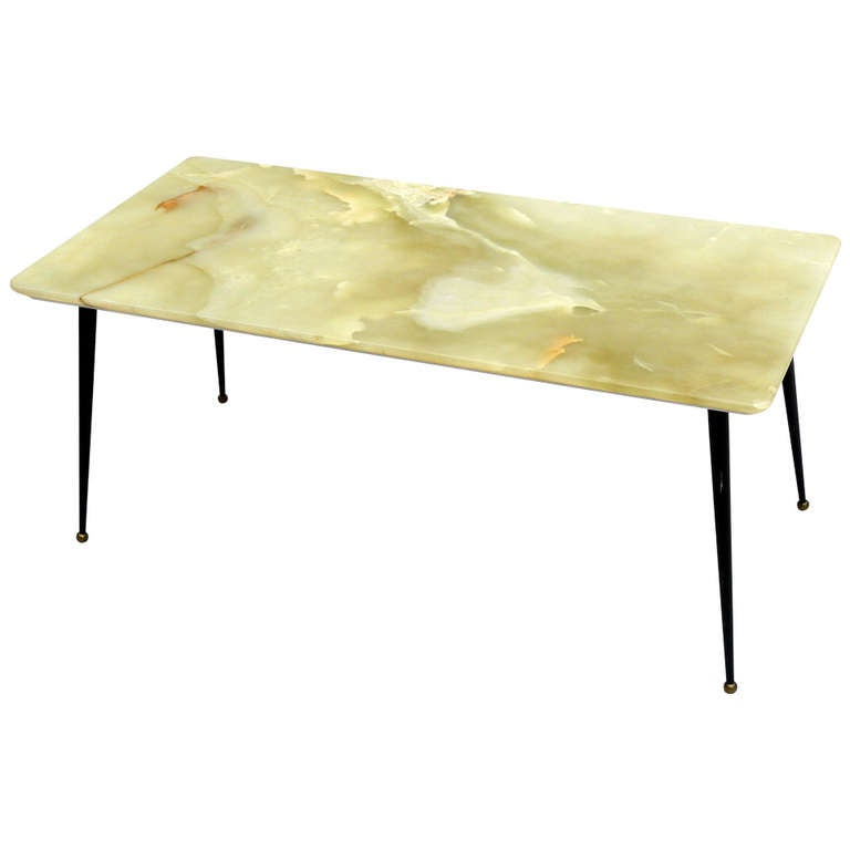 50s italian green onyx coffee table at 1stdibs. Black Bedroom Furniture Sets. Home Design Ideas