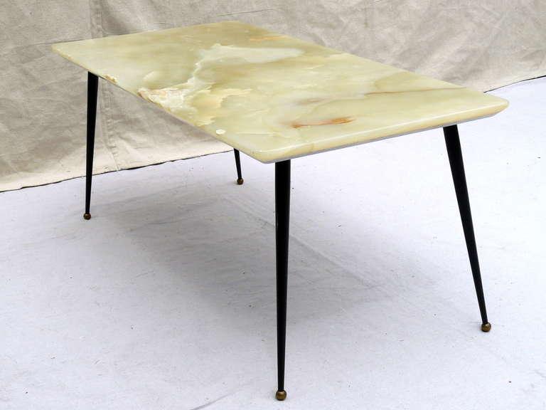 50s Italian Green Onyx Coffee Table At 1stdibs