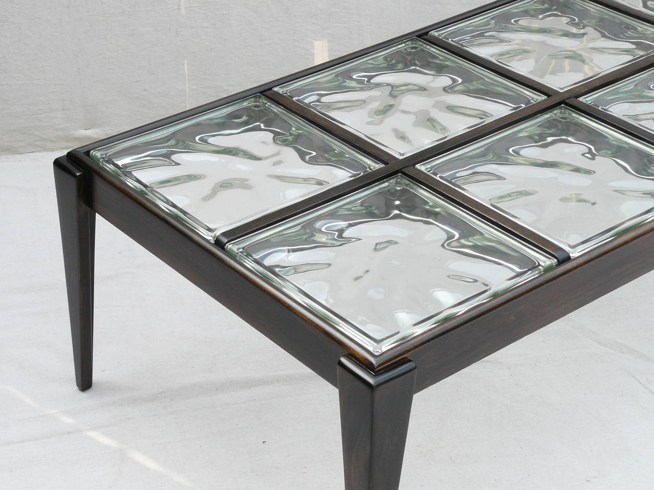40s Glass Block Coffee Table At 1stdibs