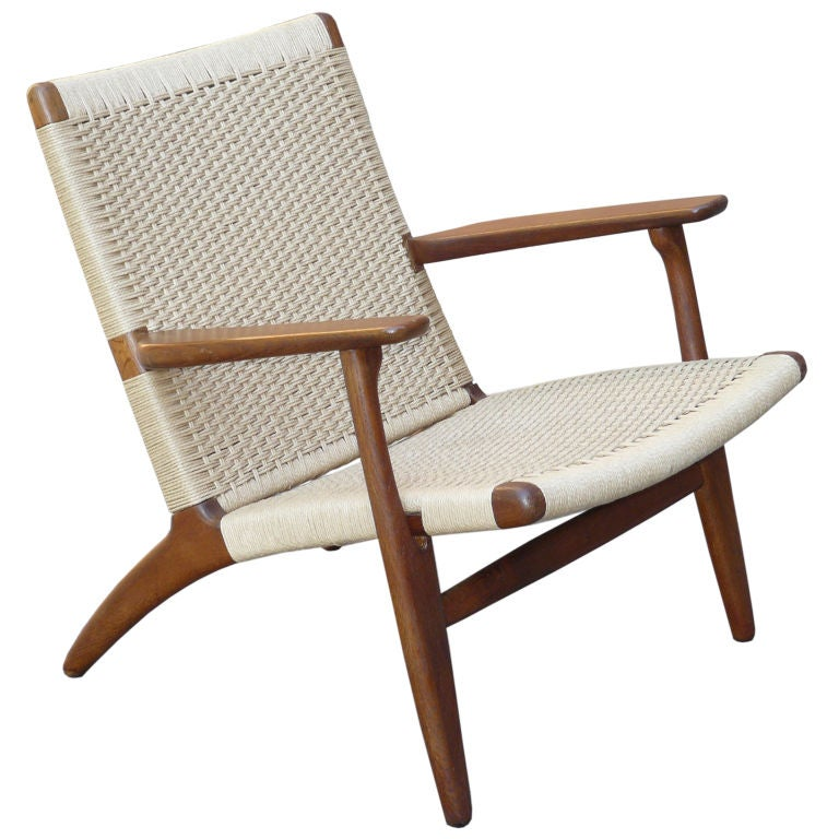 Hans Wegner For Carl Hansen And Son Ch 25 Lounge Chair At