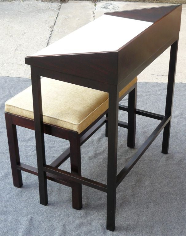 Small Foyer Stool : Wormley dunbar entryway table and stool from ethel pilson
