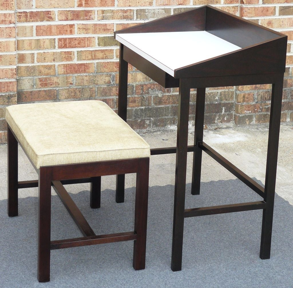 Foyer Table With Stools : Wormley dunbar entryway table and stool from ethel pilson