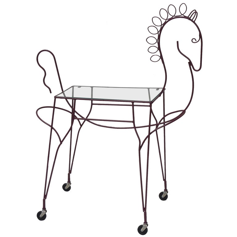Frederick Weinberg Horse Tea Cart At 1stdibs