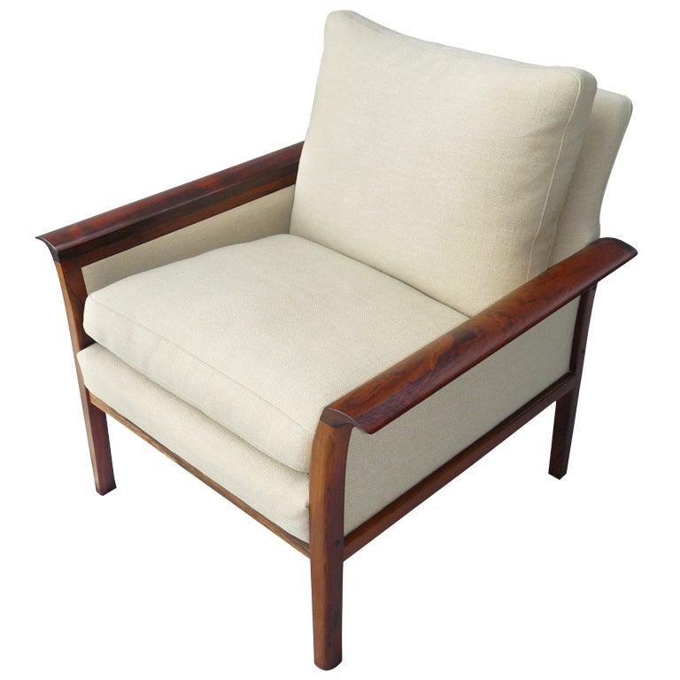 1960s vatne mobler norwegian rosewood armchair at 1stdibs