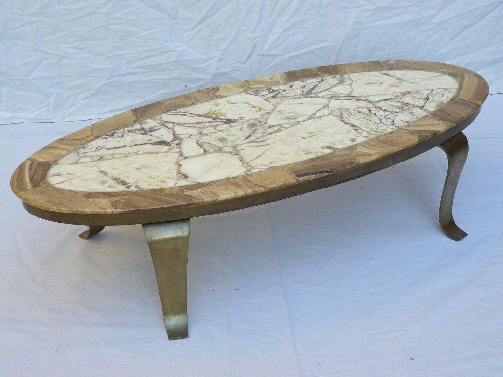 60s muller onyx and brass coffee table at 1stdibs. Black Bedroom Furniture Sets. Home Design Ideas