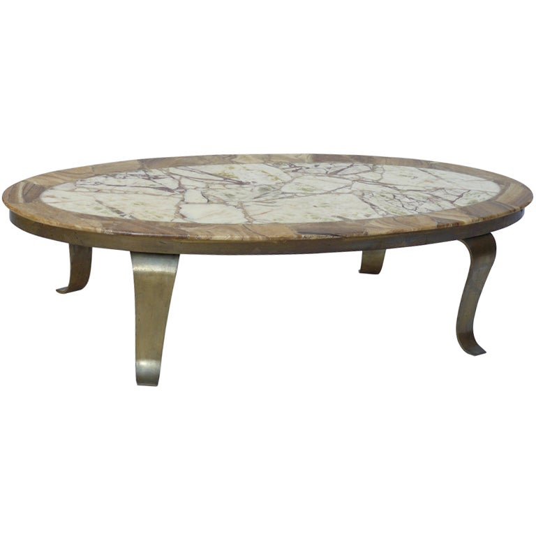 60s Muller Onyx And Brass Coffee Table At 1stdibs