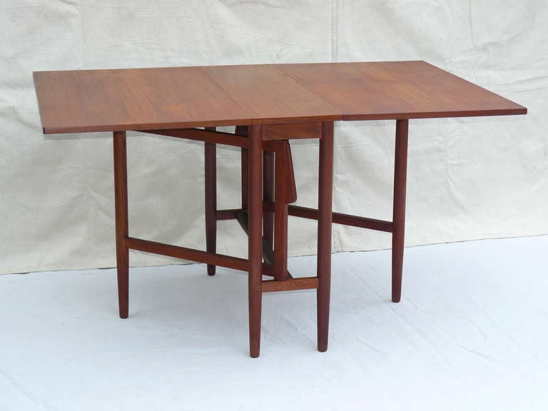 50s danish teak petite gate leg table at 1stdibs for Dining room tables 38 inches wide