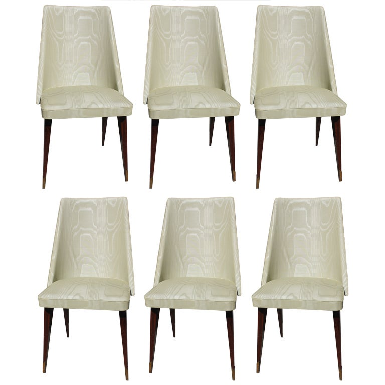 set 6 french art deco scoop back dining chairs 1 art deco dining furniture