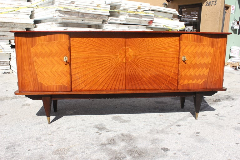 french art deco palisander rio sunburst buffet at 1stdibs. Black Bedroom Furniture Sets. Home Design Ideas