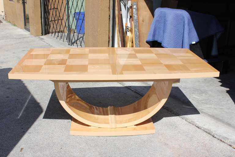 mid century italian art deco style maple dining table art deco mid century dining