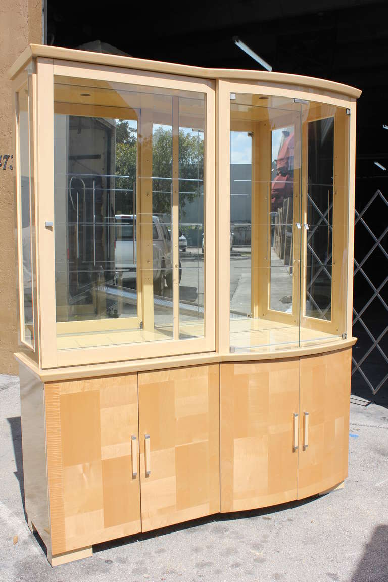 mid century italian art deco style maple china cabinet display 2 art deco mid century dining