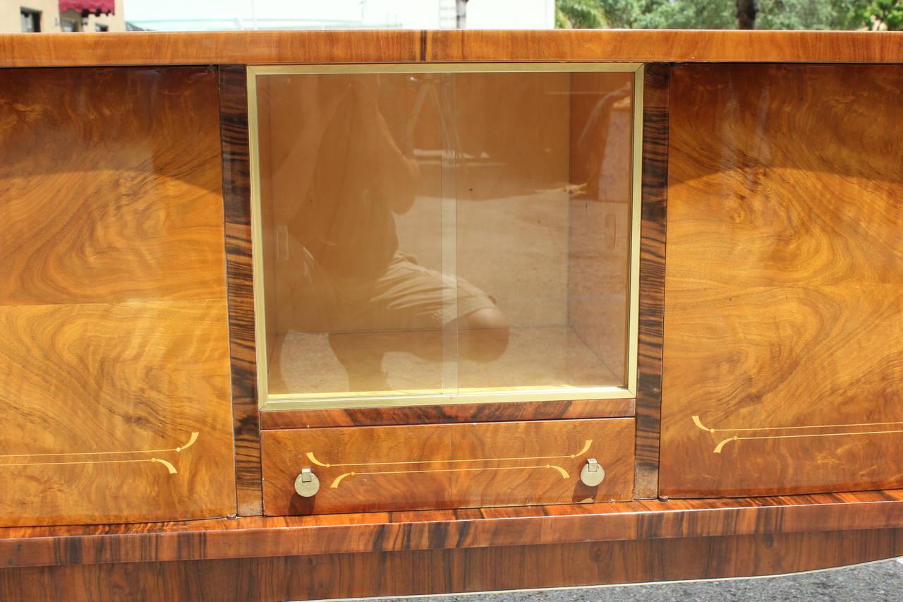 french art deco or art moderne exotic walnut buffet circa. Black Bedroom Furniture Sets. Home Design Ideas