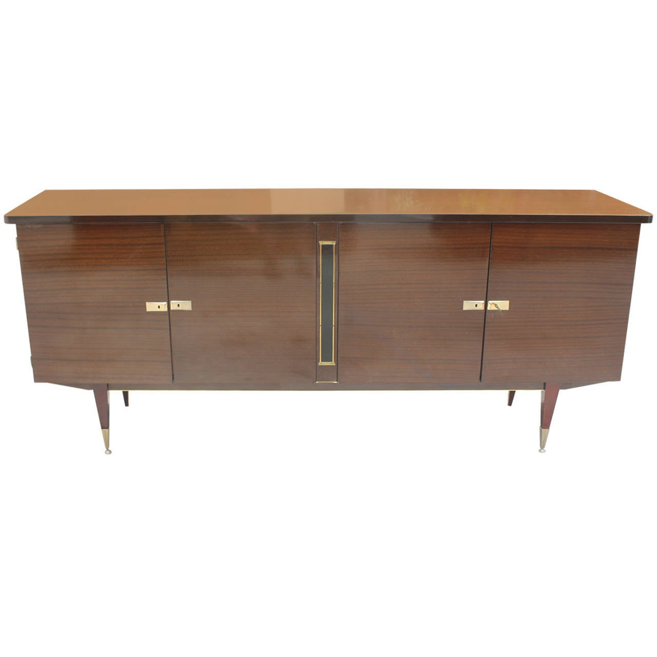 french art deco or art moderne mahogany buffet circa. Black Bedroom Furniture Sets. Home Design Ideas