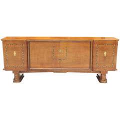 French Art Deco Jules Leleu Style Palisander M-O-P Sideboard / Buffet 1940s