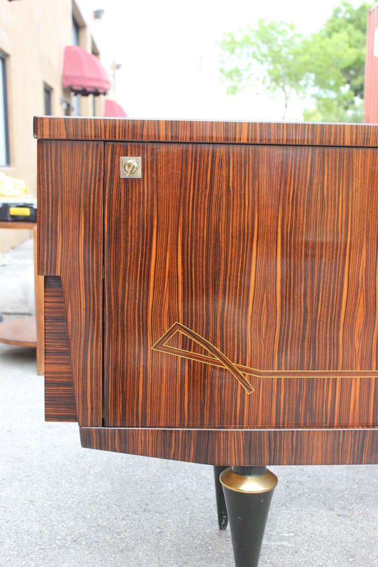 french art deco or art moderne exotic macassar ebony. Black Bedroom Furniture Sets. Home Design Ideas