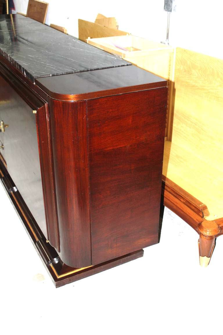 french art deco solid mahogany buffet at 1stdibs. Black Bedroom Furniture Sets. Home Design Ideas